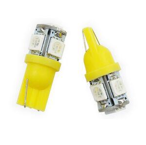 Interlook LED auto žárovka LED T10 W5W 5 SMD 5050 oranžová